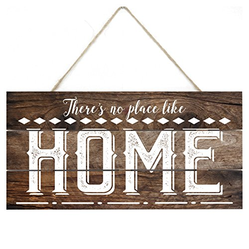 MRC Wood Products There's No Place Like Home Rustic Wooden Plank Sign 5x10