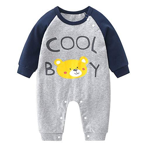 Enterizo para recién nacido, vestido de pijama de manga larga, para primavera y otoño, regalo para el día de los niños (tamaño: 90 cm, color: E)