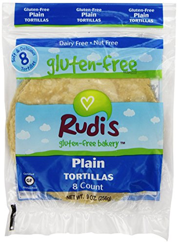 Rudi's Gluten-Free Plain Tortillas, 8 Count (Frozen)