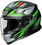 Shoei Casco NXR STAND TC-4 negro y verde, casco integral para motocicleta, L