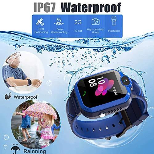 Polywell Kinder Smartwatch ,Touchscreen Mobile Smartwatches mit LBS SOS Voice Chat Kamera Taschenlampe Wecker Digitalkamera Kids Smart Watch für Mädchen, Kompatibel mit IOS und Android … (2G)