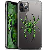 Schutzhülle für Apple iPhone 11 Pro, ultradünn, Motiv: Spinne, Grün