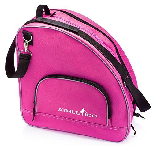 Athletico Ice & Inline Skate Bag - Premium Bag to Carry Ice Skates, Roller Skates, Inline Skates for Both Kids and Adults (Pink)