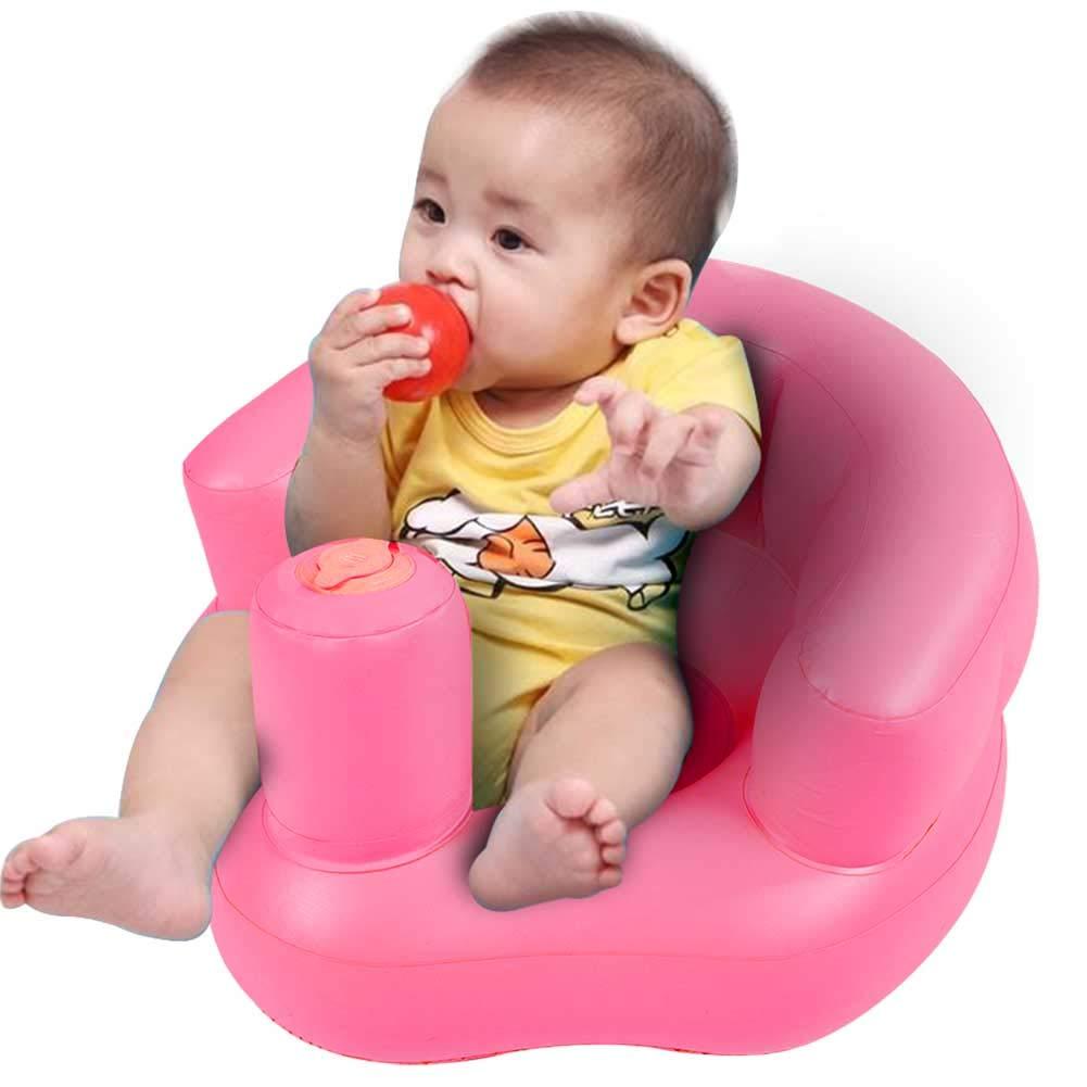 Gr/ün Rosa Bad und Mahlzeiten Pumpen f/ür Spiel multifunktional aufblasbares Sofa Tragbares Spielsofa f/ür Kinder