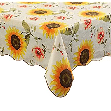 Artisan Flair AF5472-001 Sunflower Indoor Outdoor Vinyl Tablecloth Oblong(rectangle)-54  x 72