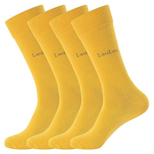 Calcetines largos amarillos (4 pares)