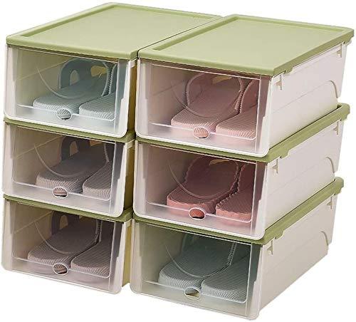 Ranuras de zapato ajustables Organizador Bastidore Estante de zapatos Estante de plástico de plástico para zapatos, almacenamiento de zapatos portátil, caja de clasificación, con un juego de puertas t