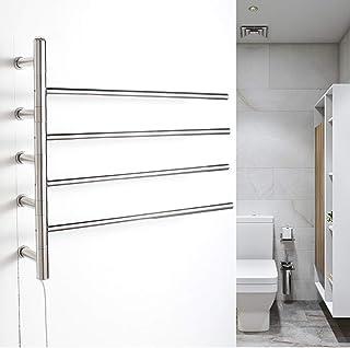 NINI Calentadores de Toallas, Calentador de Toallas eléctricas calefacción radiador-plata-590 * 630 * 120-51W Manual
