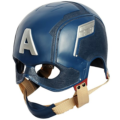 Wellgift Hero Helm Endgame Maske CW Halloween Cosplay Kostüm Erwachsene Herren Damen Vollkopf Harz Mask Fancy Dress Merchandise Zubehör
