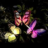 Solar Gartenleuchte,TekHome Solar Schmetterlinge Deko,Solar lampions Außen Wetterfest mit Farbwechsel, LED Solar Lichter für Garten, Weg,Terrasse, Backyard,Balkon,Garden Geschenke für Frauen.