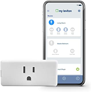Leviton DW15P-1BW Decora Smart Wi-Fi Mini Plug-In Outlet, No Hub Required, Works with..