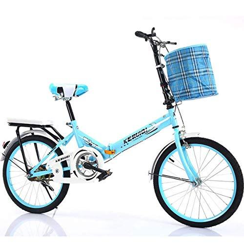 GXLO El Trabajo de luz de Bicicletas Plegables Mujeres Adulto Ultra Velocidad Variable Luz Portátil para Adultos Pequeño Estudiante Masculina Bicicleta Plegable Portador de la Bicicleta,C