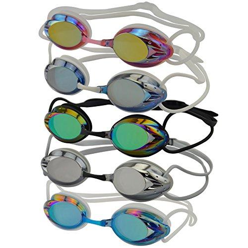 #DoYourSwimming »Harpoon« Schwimmbrille / 100% UV-Schutz + Antibeschlag/Starkes Silikonband + stabile Box/AF-2000m / pink