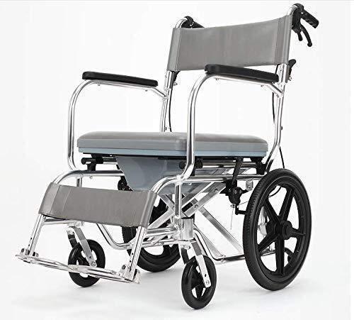 XUSHEN-HU Sillas de ruedas multifunción para ancianos plegable y ligera silla de ruedas