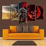 TYUPS 5 Paneles Juego Gears of War Wall Art HD Imagen Impresiones...