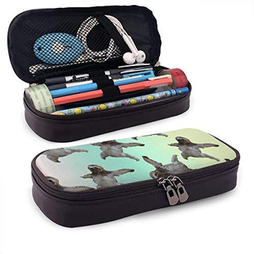 Kunstleder Federmäppchen lustige fliegende Bleistift Tasche Reißverschluss Bleistift Kosmetik Make-up Tasche Tasche für Schule Arbeit Büro