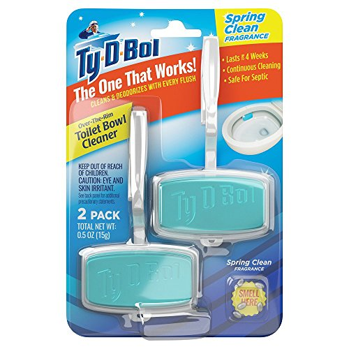 Ty-D-Bol Over The Rim Cleaning Gel - Spring Clean , 2 Pack
