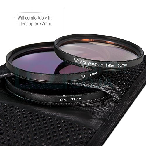 (3 Pack) Lens Filter Case for Circular or Square Filters + MagicFiber Microfiber Cleaning Cloth
