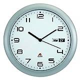 ALBA, Orologio da Parete con meccanismo Silenzioso con Display Data, 30 x 5,5 x 30 cm