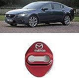 NA 4Pcs Coche Estilo Cubierta de Cerradura de Puerta, para Mazda M6M3M2M5 Door Lock Cover Acero Inoxidable Auto Protección Accesorios