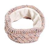 Amorar Fascia da Donna Yoga Invernali Caldi Fascia per Capelli Band Fascia Chunky Knit con Fodera in Pile Caldo Fodera Ski Headwear Paraorecchie Caldi