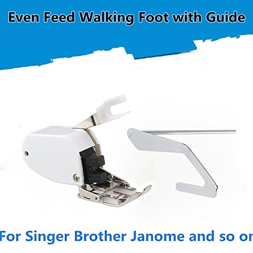 Even Feed Walking Sewing Machine Presser Foot with Quilt Guide for Brother Singer Janome