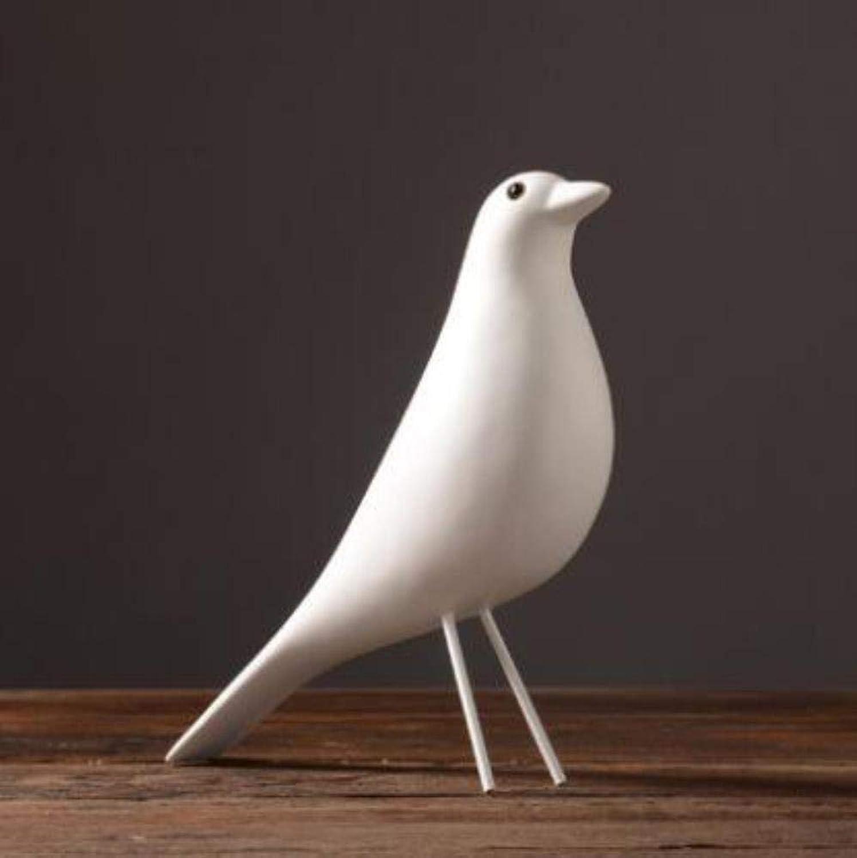 las mejores marcas venden barato Dodom Nordic Europa Resina Casa Casa Casa Pájaños Línea Simple Adorno Moda Hogar Figuras Decoración Artesanía Accesorios de Oficina Artes, blancoo  nueva gama alta exclusiva