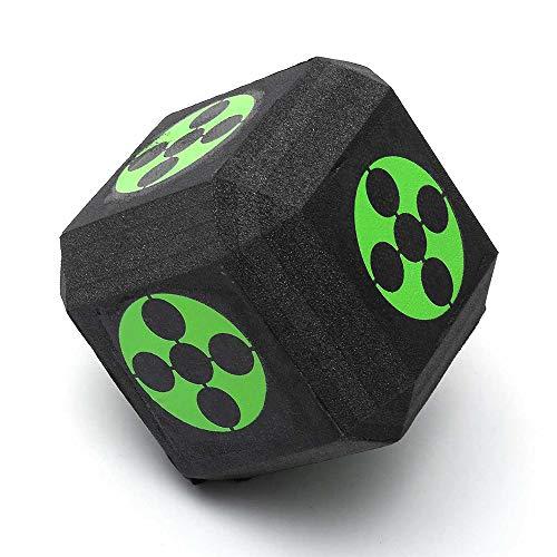 Cubo 3D de Tiro con Arco Blanco, Blancos de Espuma Dados con la Correa Que Lleva - 18-Sided, Burbuja Reutilizable Autorreparación - para Todos Flecha Compuesto Tradicional y Arcos