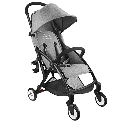 Product Image of the Tiny Wonders Black Lightweight Compact Baby Stroller, Portable Airplane Travel...