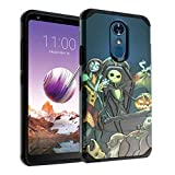 for Stylo 4 Case IMAGITOUCH 2-Piece Armor Case with Flexible Shock Absorption Case & Nightmare Before Christmas Design Cover for Stylo 4- Nightmare Before Christmas