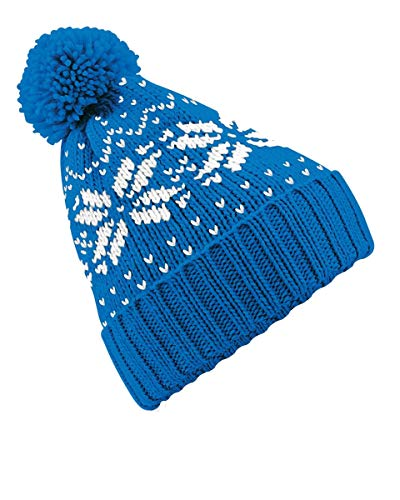 Skiweb Chapeau Kids Pom Pom - Bleu