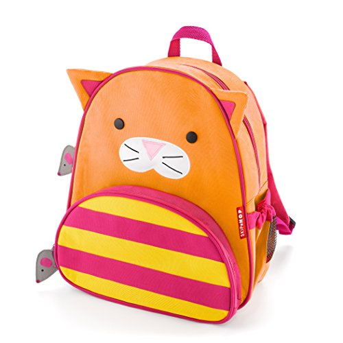 Skip Hop Cat Toddler Backpack, 12' School Bag, Multi