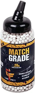 GameFace SAP2020E Match Grade Biodegradable .20-Gram White Airsoft BBs (2000-Count)