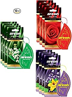 AREON Assorted Air Freshener Flower Scents (12 Pack)