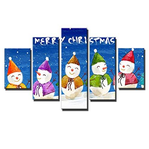 LQH Arte de la Pared Poster decoración casera Moderna 5 de Navidad Decoraciones de Halloween HD Pri (Size : 1)