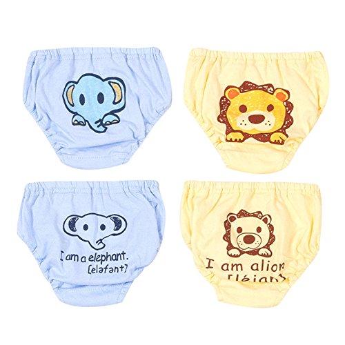 4 Pack Baby Unterwäsche Unterhose Slip Niedlich Cartoon Baumwolle Unterwäsche Shorts für Kinder Jungen 90