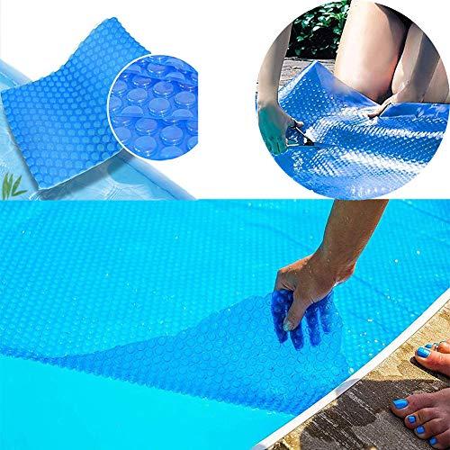 MSHK Cubierta Solar Piscina Isotérmica Azul Rectangular Protección UV Térmica Protectora Cobertor Piscina Pool System Protection Burbujas 400 Micras,2x4 m