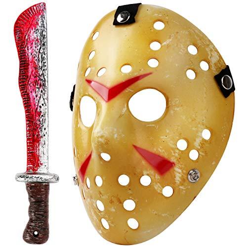 Mosqueda Cosplay Mask Machete Costume Halloween Horror Yellow