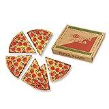 Supreme Housewares Pizza Slice Plates, (Box), Multi