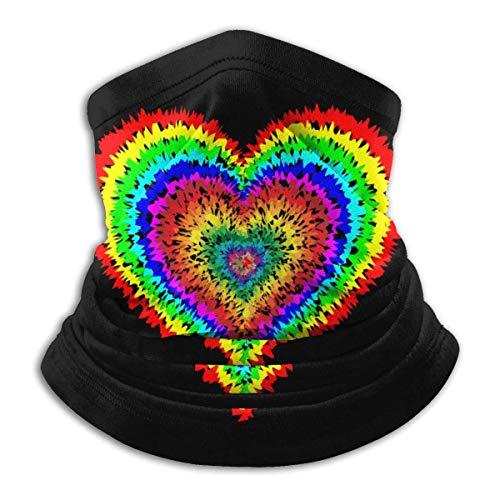 NA Tye Dye Heart Hommes Femmes Masque Visage Cache-cou Bandana Pour Snowboard