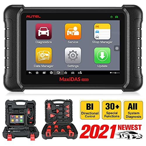 Autel MaxiDAS DS808K Outil de Diagnostic, Améliorée de DS808, MP808, Diagnostics de Tous Les Systèmes, Contrôle Bidirectionnel, Codage d'Injecteur, Réinitialisation d'Huile, EPB, SAS, FAP, Purge ABS