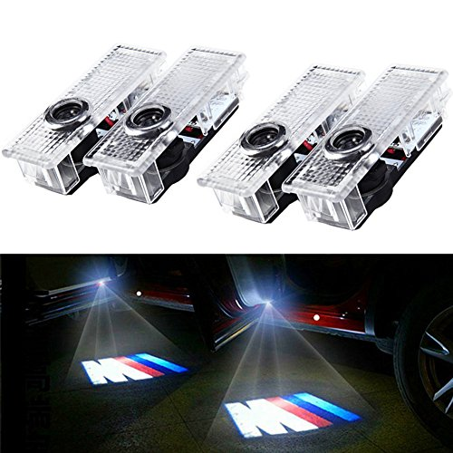 Autotür Projektor Licht, BSVLIA 4 Pack Auto Logo Willkommen Schatten Lampe LED Autotür Courtesy Ghost Lights (4 PCS)