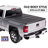 Gator ETX Soft Tri-Fold Truck Bed Tonneau Cover | 59109 | Fits 2014 - 2018, 2019 Ltd/Lgcy Chevy/GMC Silverado/Sierra 1500 5'8' Bed | Made in the USA