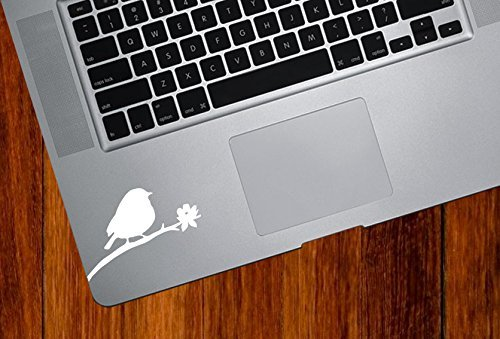 Bird on Branch - Design 3 - Trackpad/Keyboard - Vinyl Decal Copyright (3
