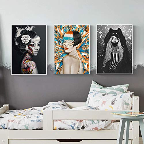 Geiqianjiumai Moderne mode dame foto home decoratie kaart minimalisme print Nordic canvas schilderij muur kunst schilderij woonkamer decoratie