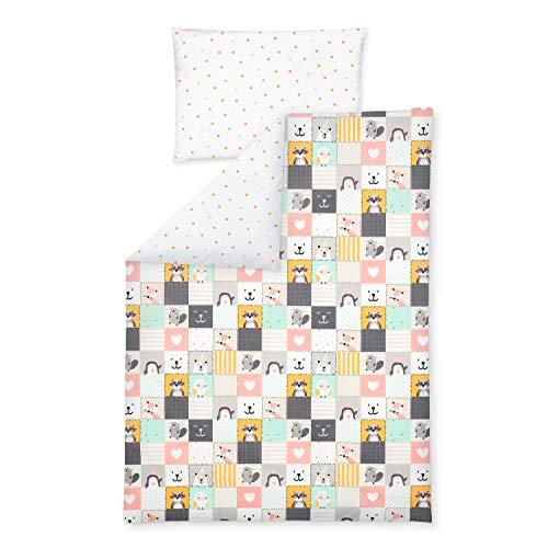 Julius Zöllner 8510119110 Parure de lit pour Enfant 100 x 135 + 40 x 60 cm 100 % Coton fabriqué en Allemagne Multicolore 600 g