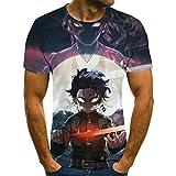 T-Shirt Camiseta de animación para Hombre, Ropa de Calle Grande para Hombre deModa 3D de Halloween, Nueva Camiseta Punk en Verano Anime de Dibujos animados-4XL