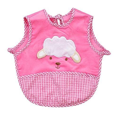 Etanche Bavette pour bébé / mignon bavoir enfant, 0-2 Ans / rose mouton