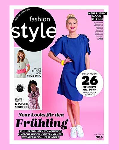 fashion style Nähmagazin: Ausgabe 05/2020, Schnittmuster ideal geeignet für Anfänger und Näherfahrene