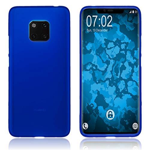 PhoneNatic Custodia Compatibile con Huawei Mate 20 PRO Cover Blu stuoia Mate 20 PRO in Silicone Cover